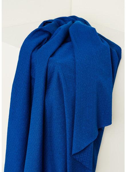 Mind The Maker intens blue -  organic gem pointelle - 180 cm width!