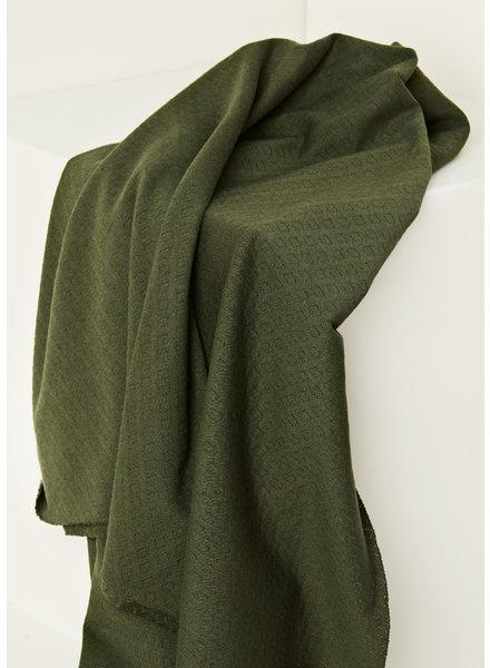 Mind The Maker green khaki - organic gem pointelle - 180 cm width!