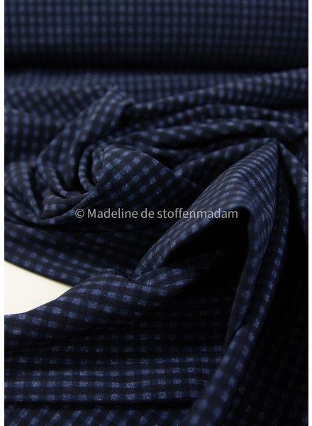 M vichy marineblauw - Italiaanse lycra