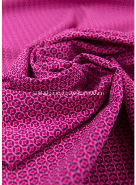 M retro look roze - Italiaanse lycra