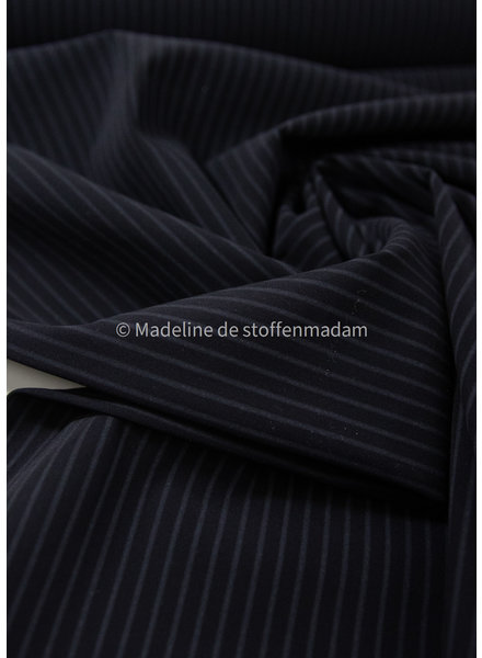 M black with subtle stripe - Italian lycra