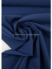 M navy blue with subtle stripe - Italian lycra
