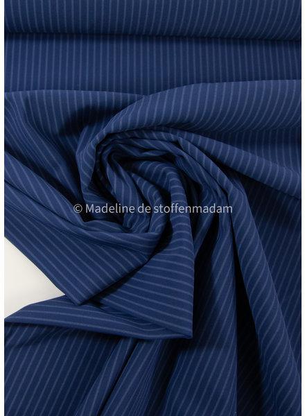 M marineblauw met subtiele streep - Italiaanse lycra