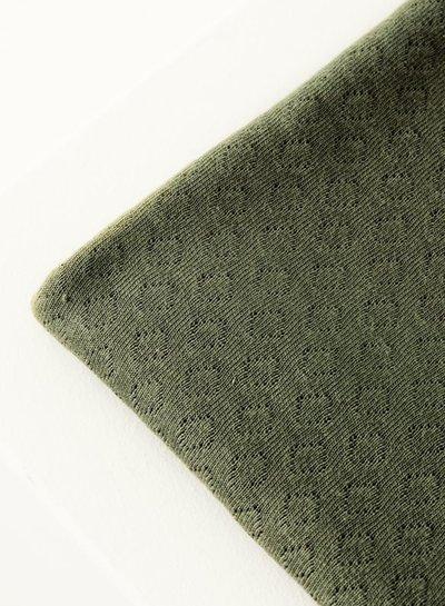 Mind The Maker olive green -  organic gem pointelle - 180cm breed!
