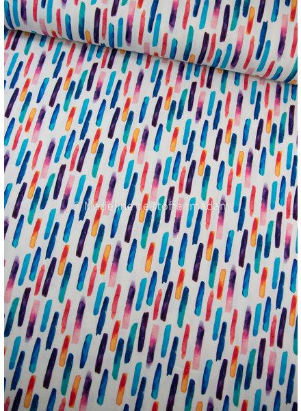 M aquarel streepjes - tricot