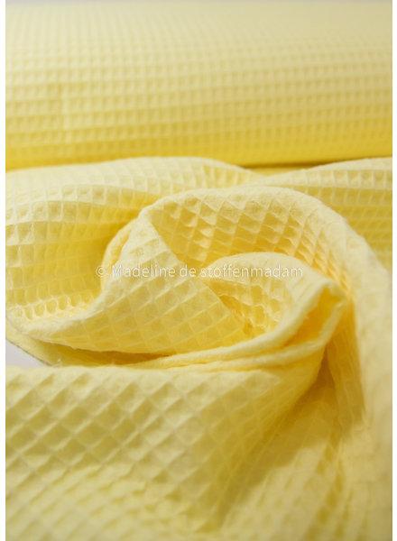 Swafing vanilla yellow -waffle cotton