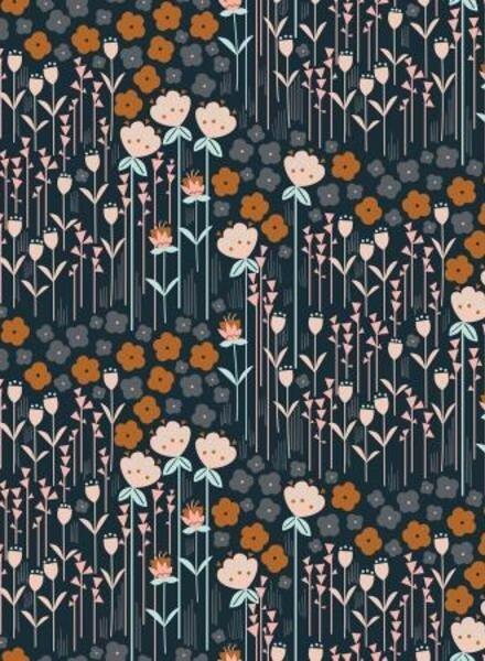 Emilia flowergarden - cotton