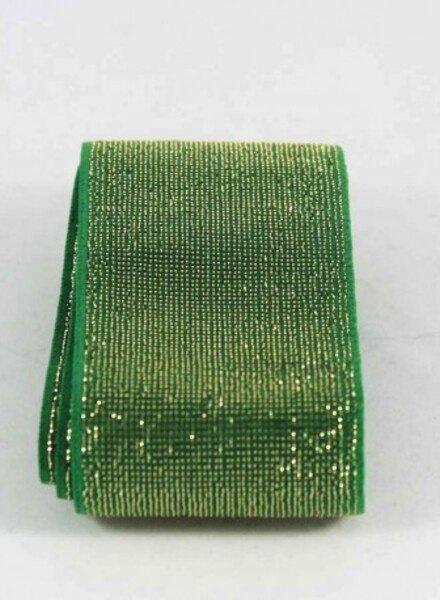 goud en groen shiny -  taille elastiek 40 mm