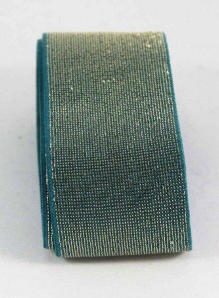 goud en blauw shiny -  taille elastiek 40 mm