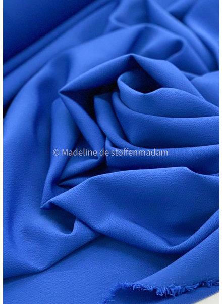 M viscose crêpe kobaltblauw