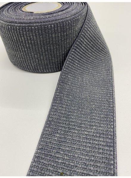 M grijze ribbelboord taille elastiek 6cm