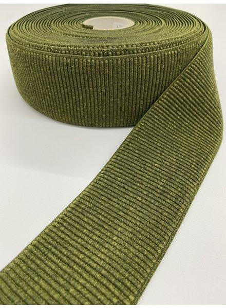 M khaki ribbed - waist elastic 60 mm