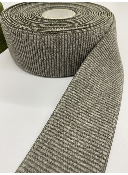 M taupe ribbed - waist elastic 60 mm