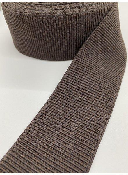 M brown ribbed - waist elastic 60 mm