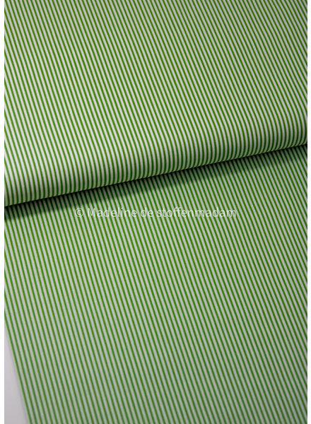 M light green striped cotton