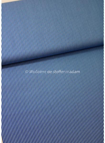 M cobalt striped cotton