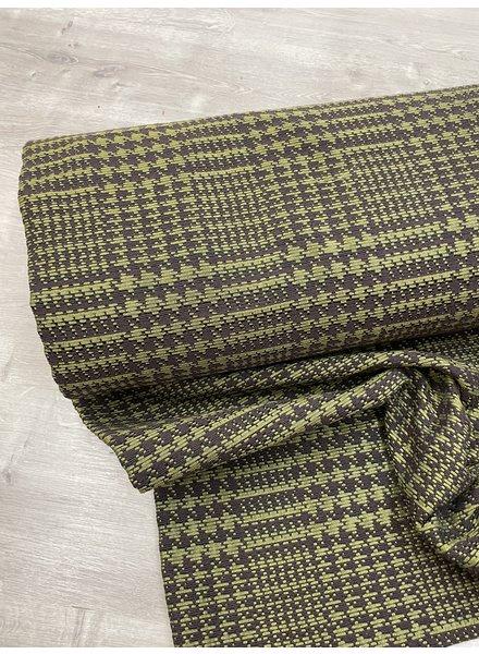 woven jacquard - green en dark brown