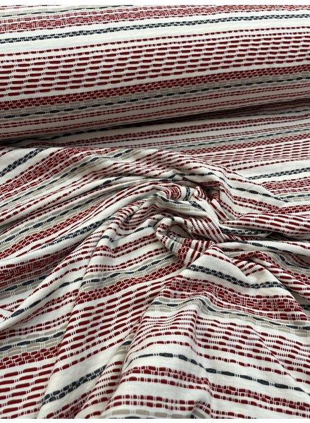 red stripes - viscose jersey