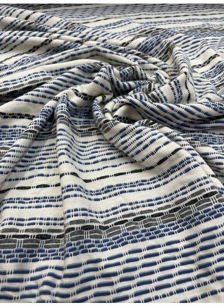 blue stripes - viscose jersey