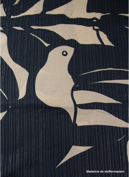 A La Ville is it a bird - hele mooie zachte katoen met een streepje lurex