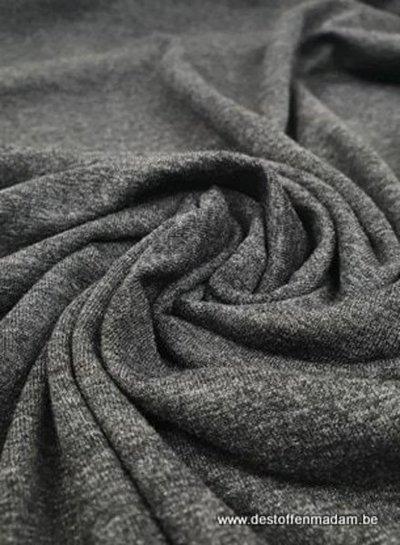 M Italiaanse viscose tricot - mooi antraciet gemêleerd
