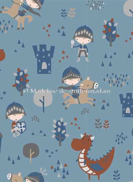 M baby draak blauw -tricot