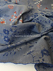 M blue rust embroided cotton mix