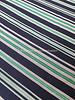beautiful woven fabric blue green stripes