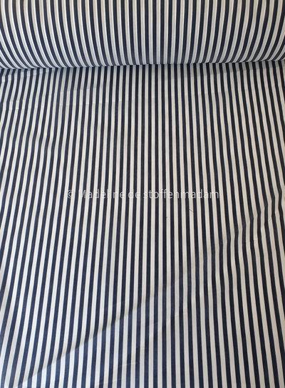 M navy wit gestreepte stof - soepelvallend