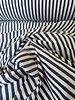 M navy white striped fabric - polyesther