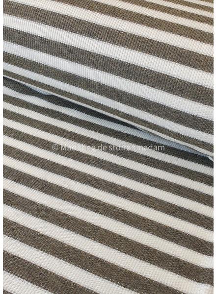 valentino viscose khaki striped ribtricot