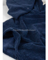M navy bamboo towel fabric - royal look