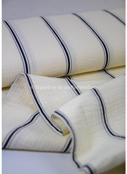 Fibremood Belle - black stripe - tetra double gauze