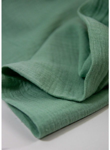 Fibremood Lou subtil green - tetra double gauze