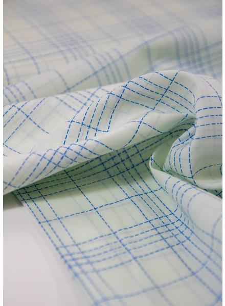 Fibremood Chloe blue squares - cotton batist