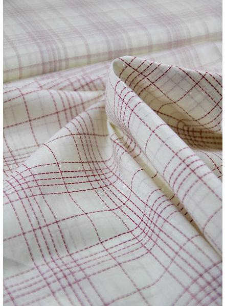 Fibremood Belle red squares - cotton batist