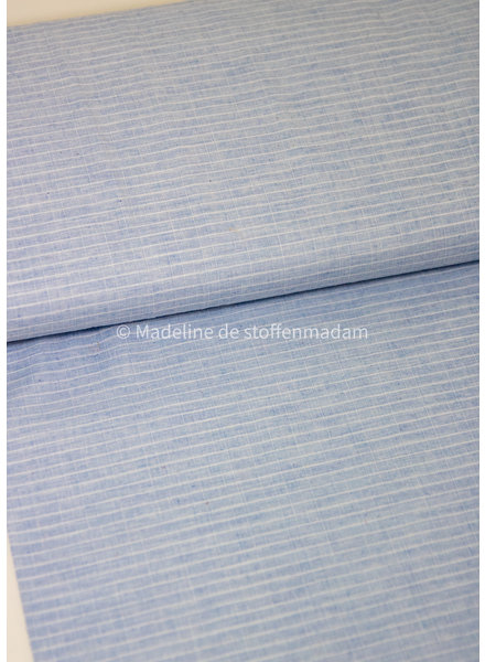 Fibremood Dolly light blue squares - cotton batist
