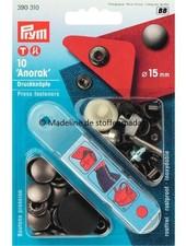 Prym anorak buttons 15mm  anthracite - Prym