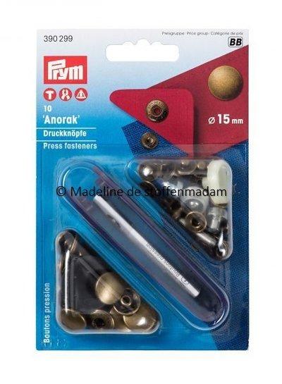 Prym anorak buttons 15mm bronze - Prym