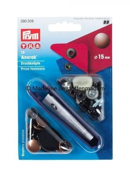 Prym anorak buttons 15mm bordeaux - Prym