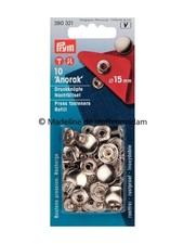 Prym refill pack anorak buttons 15 mm nickel - 10 stuks - Prym