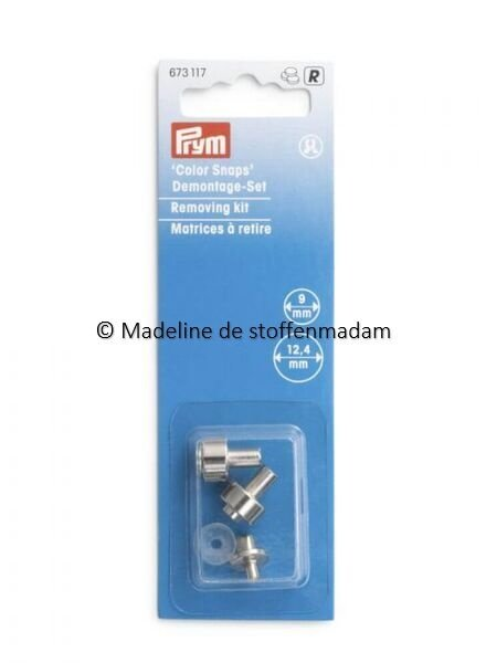 Prym Removing kit for kamsnaps or color snaps - Prym