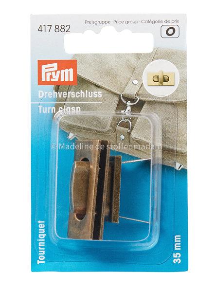 Prym Turn clasps  copper rectangle - Prym