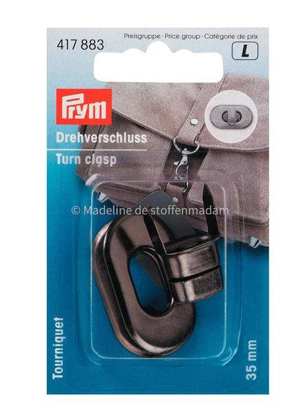 Prym Turn clasps black nickel - Prym
