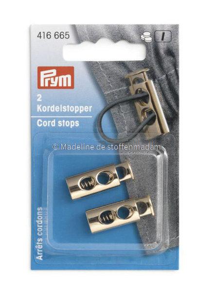 Prym 2  cord ends soft gold - Prym