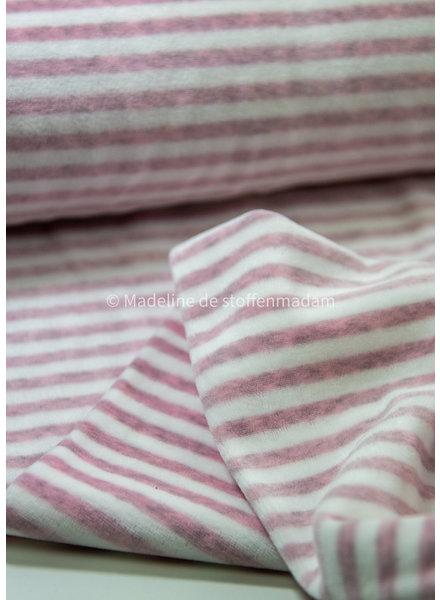 M dusty pink gestreept - nicky velours