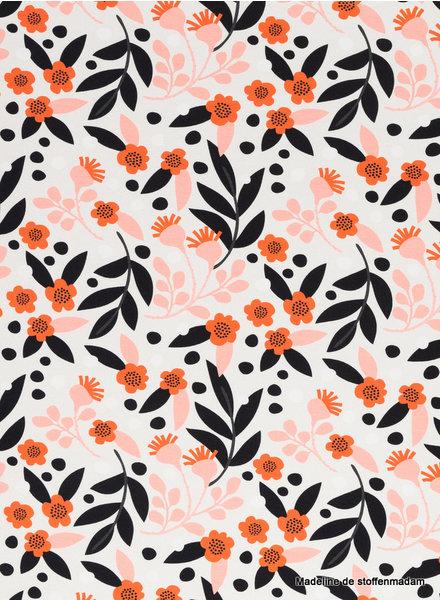 Swafing retro bloemen - tricot