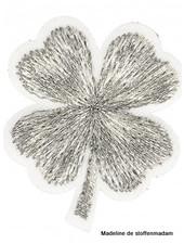 M mini klavertje vier - zilver applicatie 002