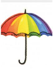 M Paraplu regenboog -  applicatie  003