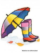 M botjes en paraplu regenboog  - applicatie 001